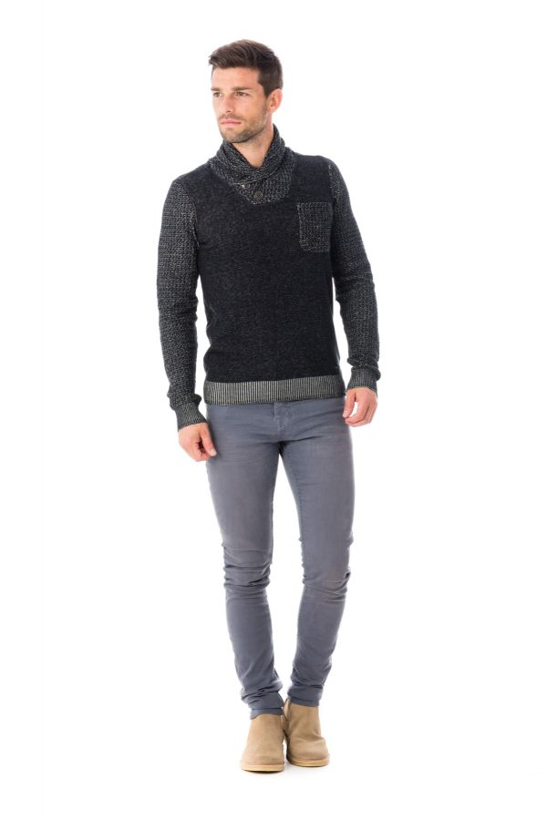 Pull/Sweatshirt Homme Kaporal BONGO BLACK H16