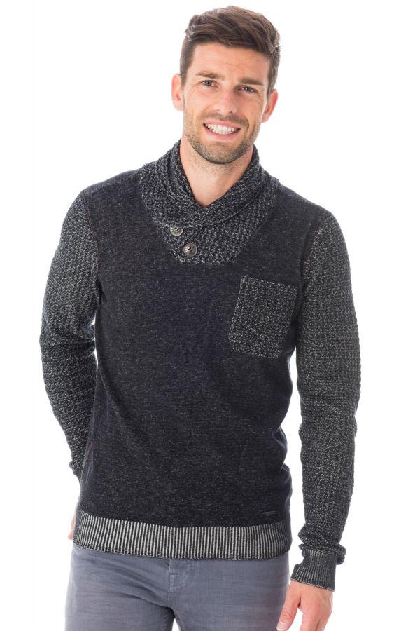 pull sweatshirt homme kaporal bongo black h16 cuir. Black Bedroom Furniture Sets. Home Design Ideas
