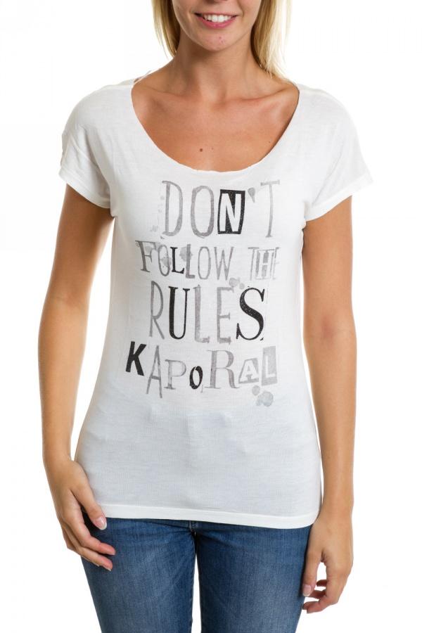 Tee Shirt Femme Kaporal TUNK H14 OFF WHITE