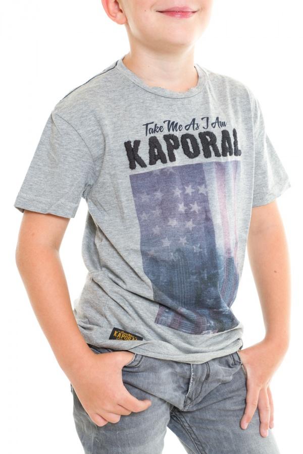 Tee Shirt Enfant Kaporal LEDER H14 GREYM