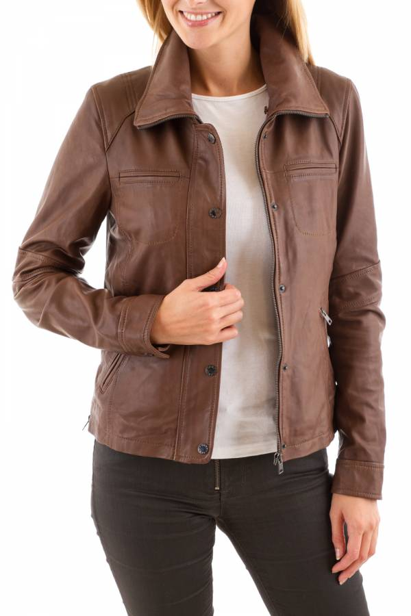 Blouson Femme Oakwood MEDIATIC MARRON CLAIR 503