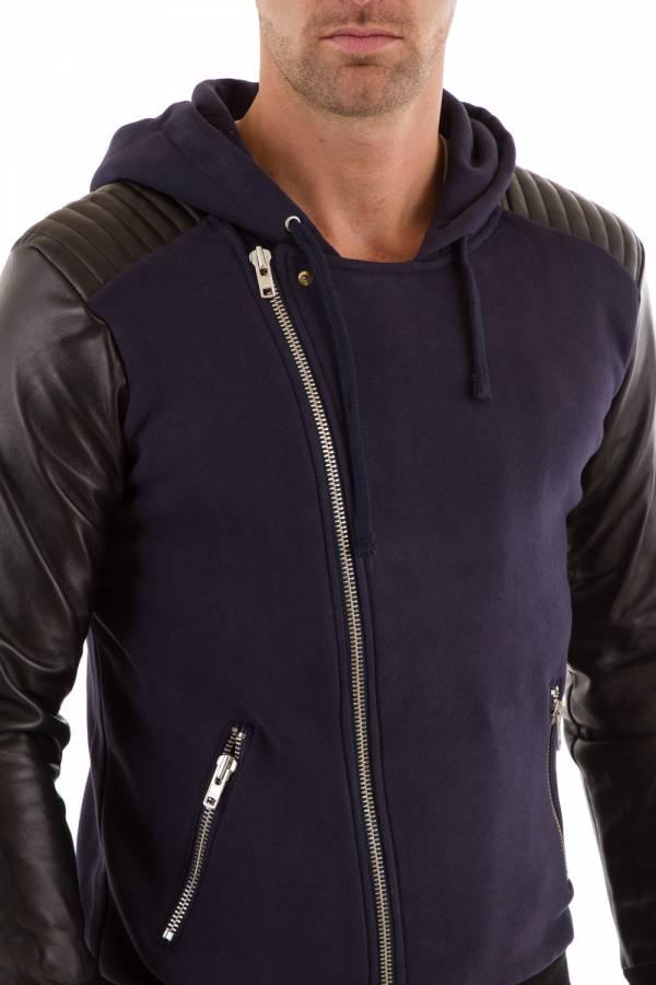 PullSweatshirt Homme seven tees POKS 2 CUIR NAVY