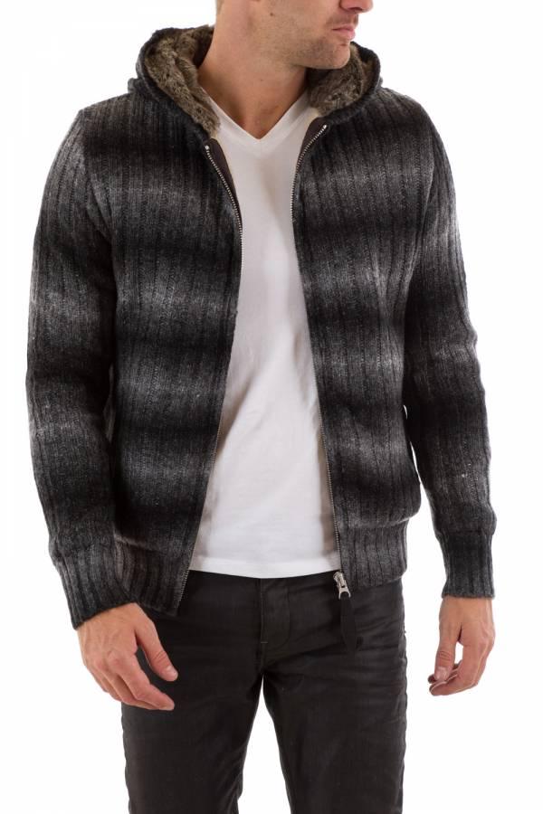 Pull/Sweatshirt Homme Schott PLPROGRESS1 BLACK STRIPES