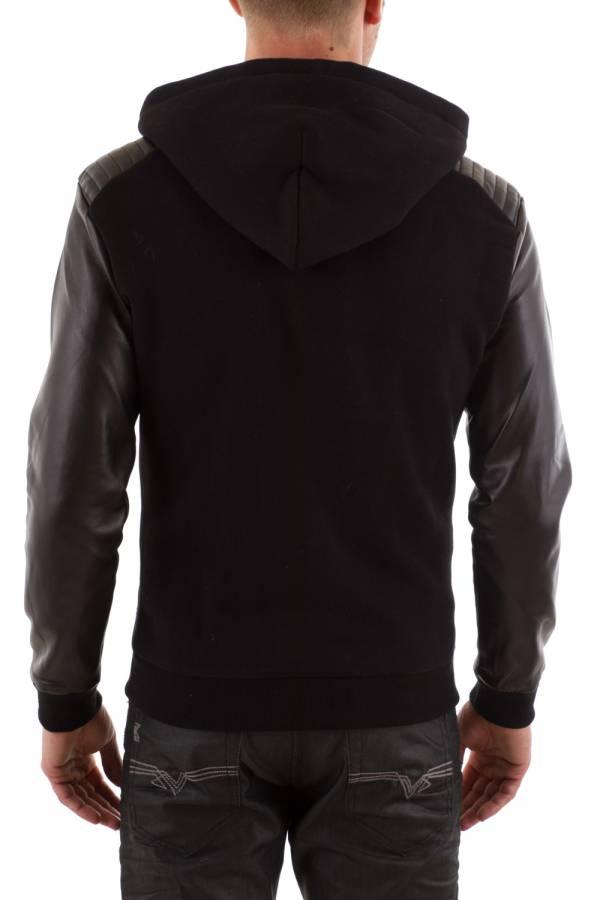 Pull/Sweatshirt Homme seven tees POKS 2 CUIR BLACK