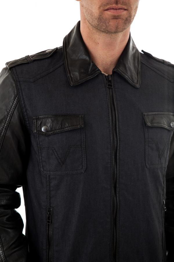 Blouson Homme Trapper VITO BLUE/BLACK