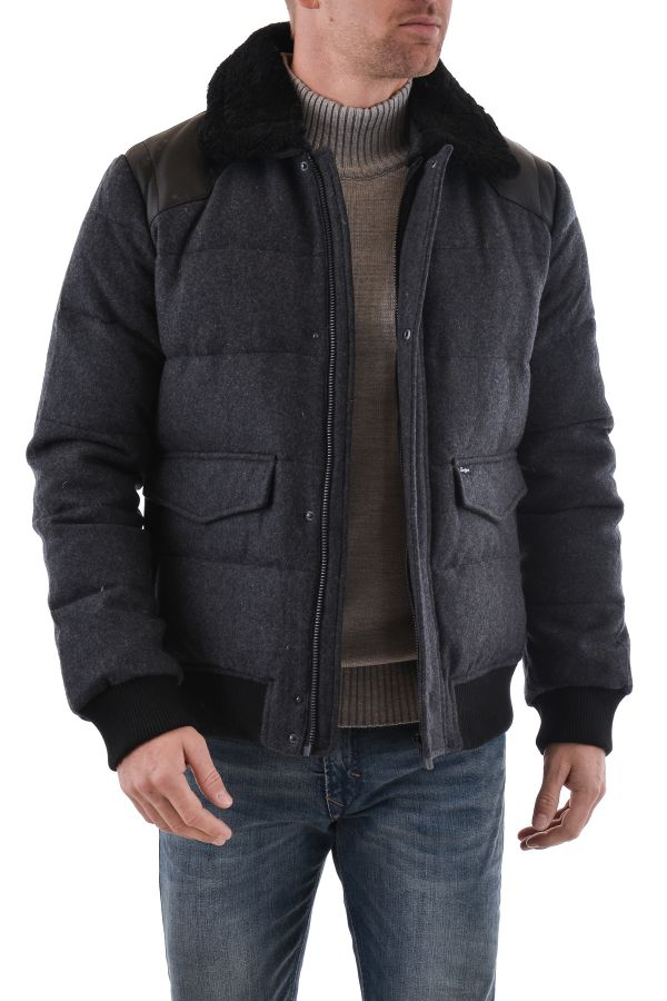 Blouson Homme Chevignon K-FLIGHT WOOL GRIS CHINE
