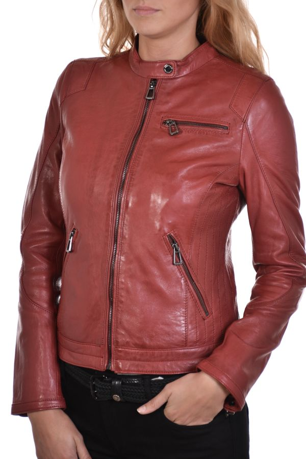 Blouson Femme rose garden KELLY LAMB RUBY DARK RED
