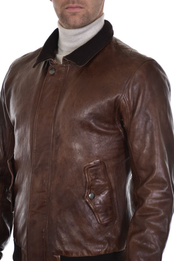 Blouson Homme Daytona TANGUY SHEEP PETROL BROWN