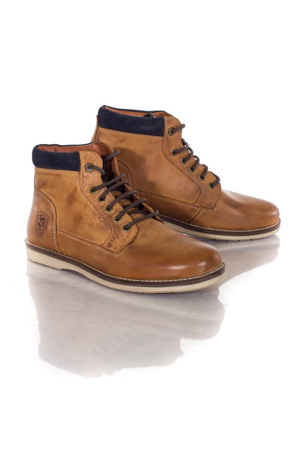 chaussures homme chaussures redskins babylone cognac marine cuir. Black Bedroom Furniture Sets. Home Design Ideas