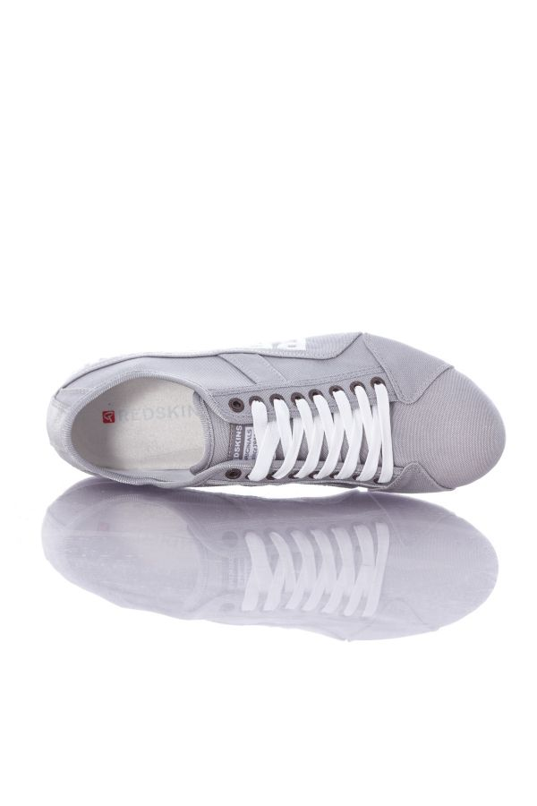 Baskets en toile Homme Chaussures Redskins TEMPO ARGENT BLANC