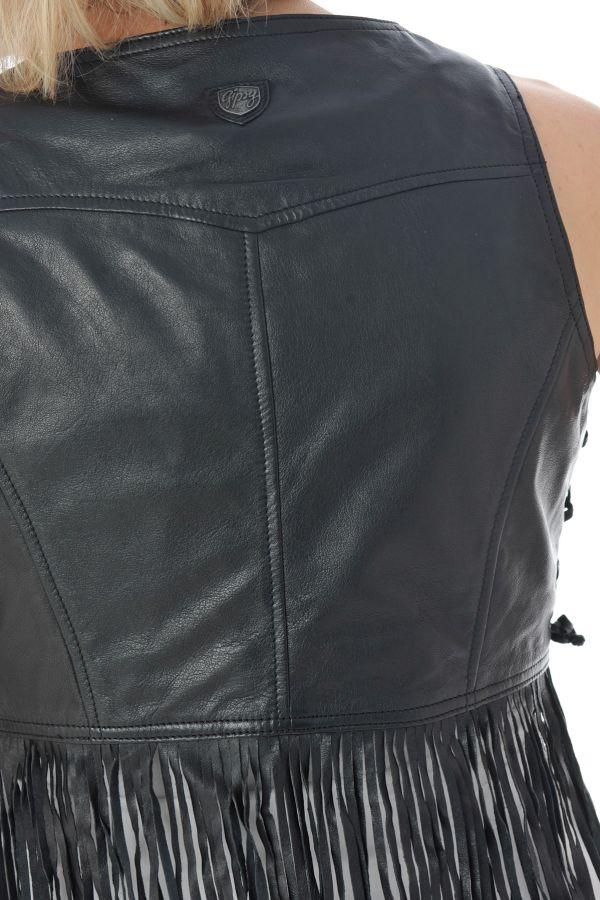 Blouson Femme Gipsy FRINGE LRV BLACK
