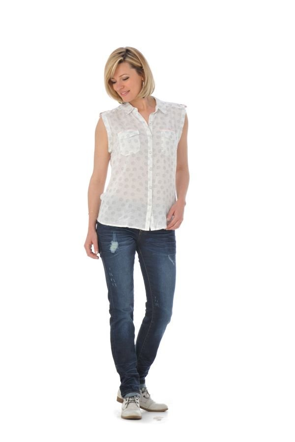 Tee Shirt Femme Kaporal RUDY OFF WHITE P16