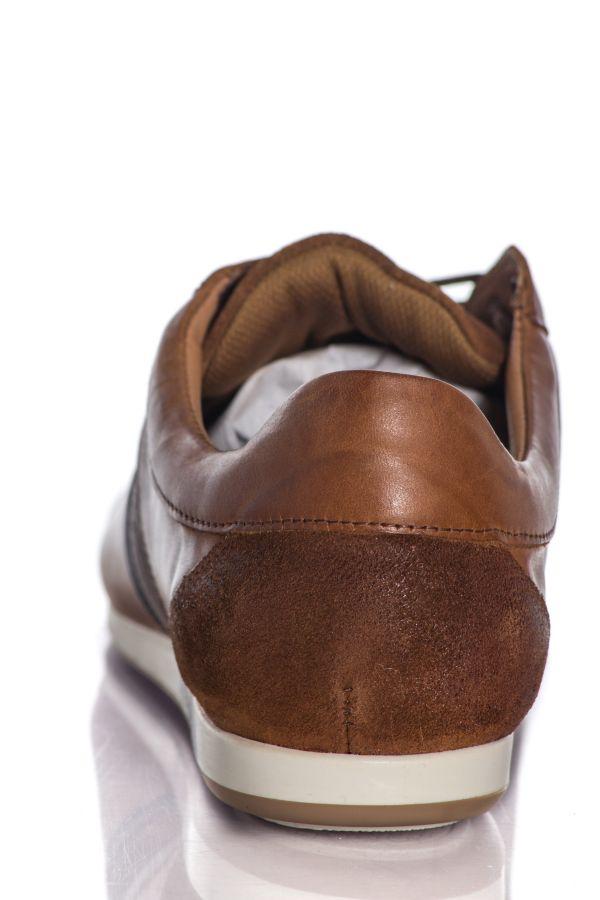 Baskets En Cuir Homme Chaussures Redskins WASEK CAMEL MARINE KAKI