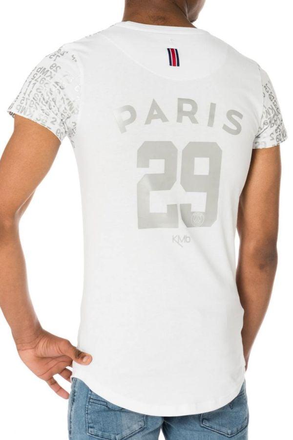Tee Shirt Enfant Paris Saint Germain D JUNIOR KYLIAN BLANC