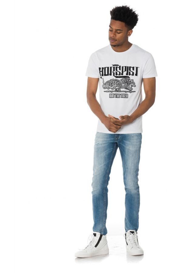 Tee Shirt Homme Horspist BOSTON M500 WHITE
