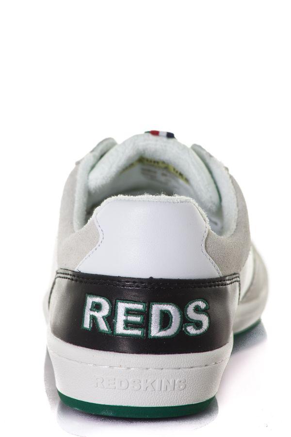 Baskets En Cuir Homme Chaussures Redskins YARON BLANC NOIR VERT