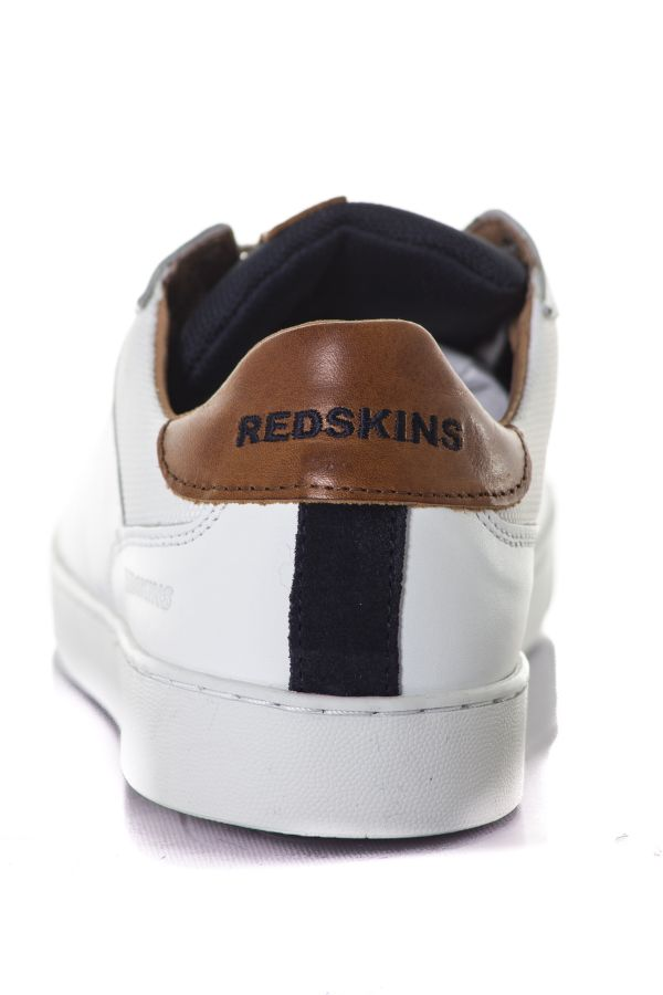 Baskets en cuir Homme Chaussures Redskins AMICAL BLANC MARINE