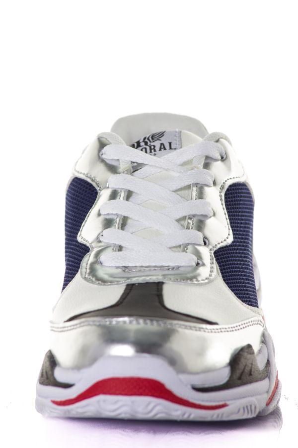 Baskets En Toile Femme Kaporal Shoes MATEA BLEU ARGENT