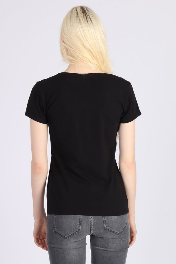 Tee Shirt Femme Kaporal XAIL BLACK