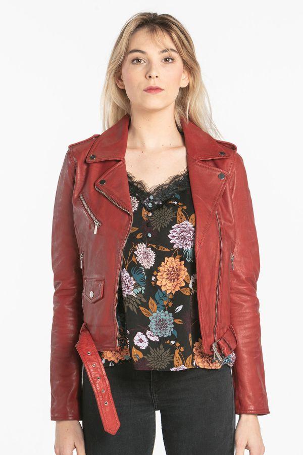 Blouson Femme Rose Garden POPPY LAMB SANDY RED CHILI PEPPER