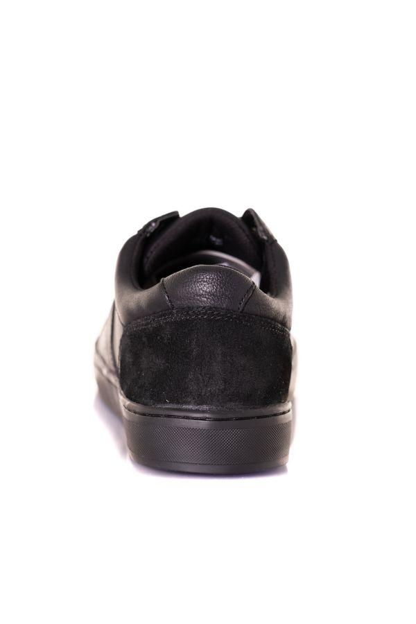 Baskets En Cuir Homme Chaussures Redskins MAIN NOIR NOIR