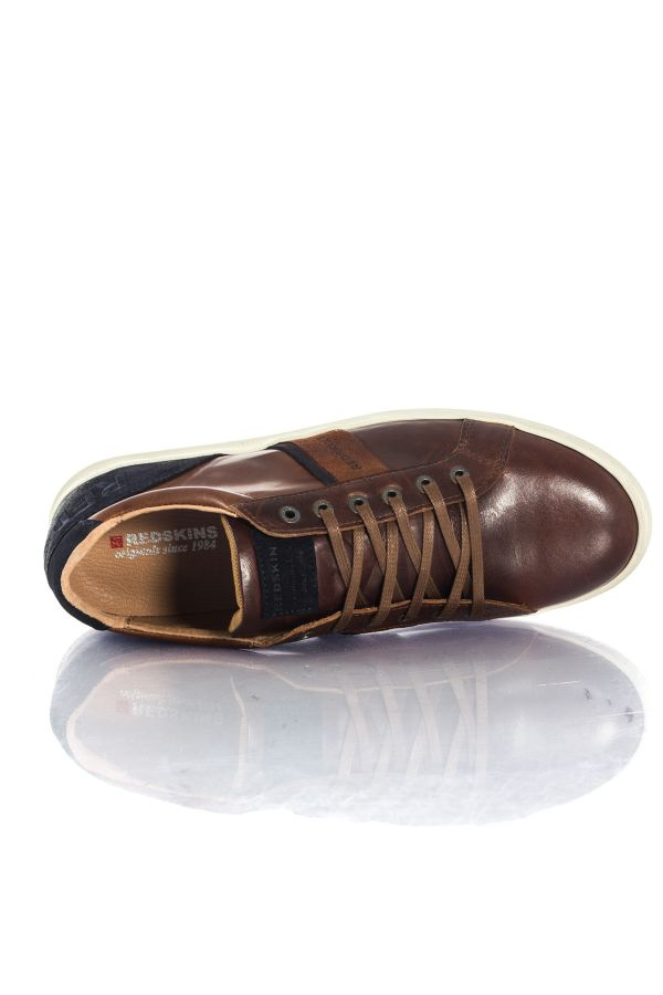 Baskets En Cuir Homme Chaussures Redskins OTTENIL BRANDY MARINE