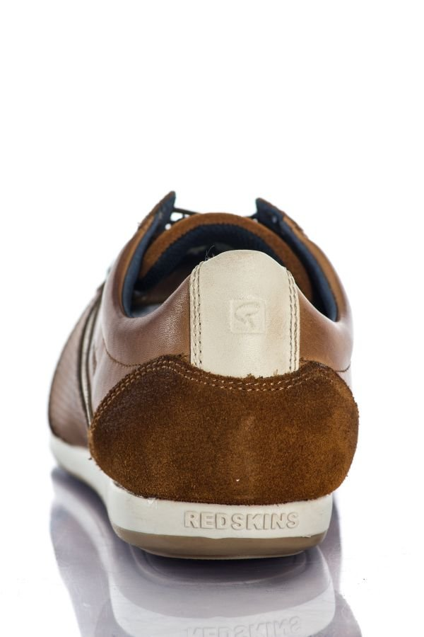 Baskets en cuir Homme Chaussures Redskins WAST 2 COGNAC BEIGE