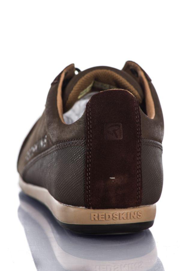 Baskets En Cuir Homme Chaussures Redskins WALKO 2 CHATAIGNE