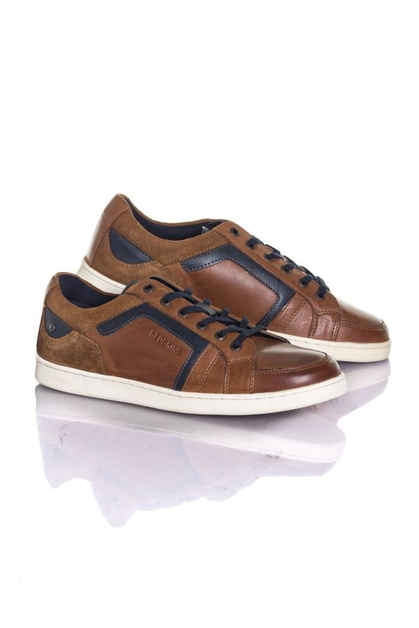 Baskets en cuir homme chaussures redskins DEFER TAN+MARINE