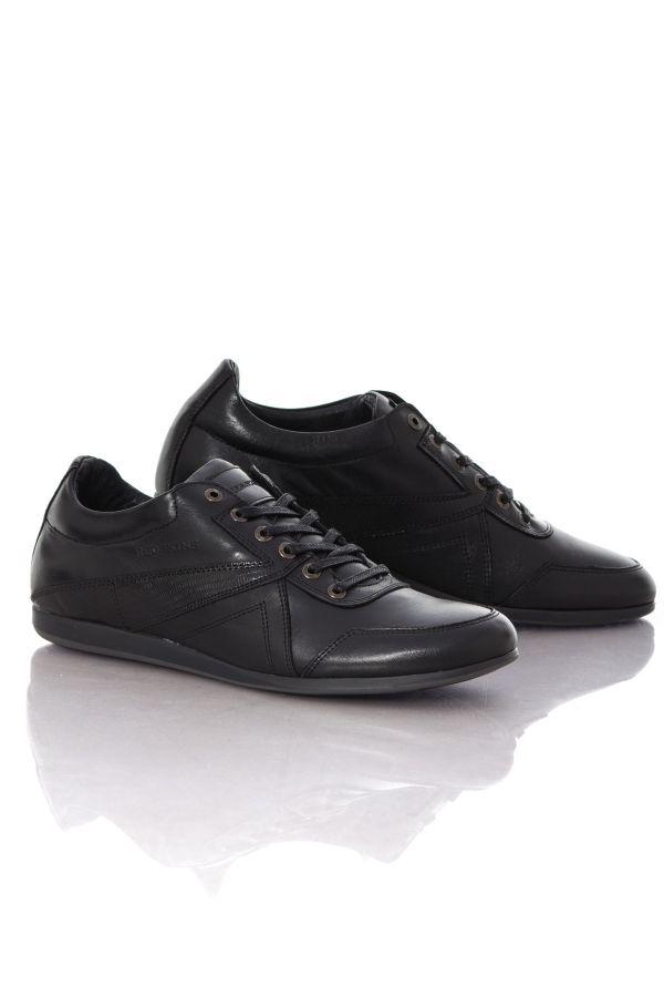 baskets en cuir homme chaussures redskins witig noir cuir. Black Bedroom Furniture Sets. Home Design Ideas