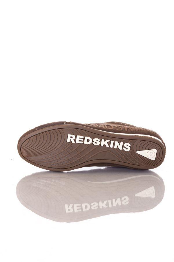 Baskets en cuir Homme Chaussures Redskins CUESTO CHOCOLAT COGNAC
