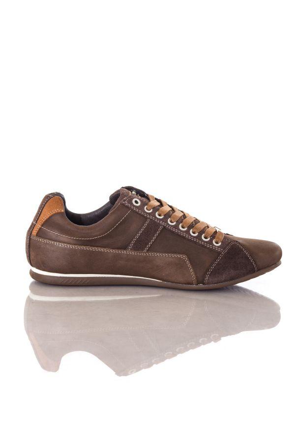 baskets en cuir homme chaussures redskins cuesto chocolat cognac cuir. Black Bedroom Furniture Sets. Home Design Ideas