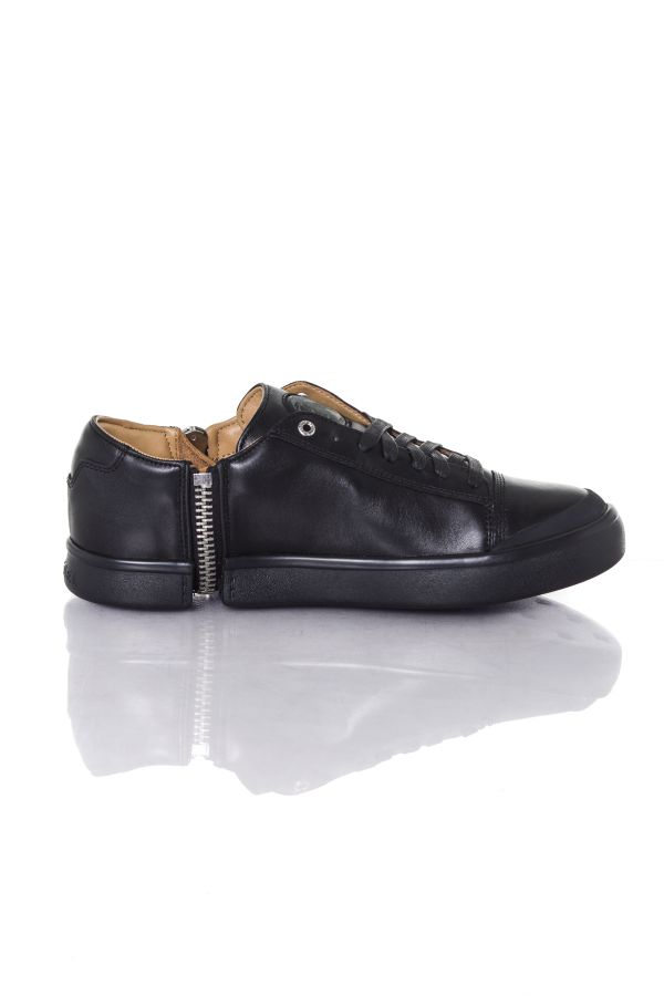 Baskets en cuir Homme Diesel S-NENTISH LOW BLACK T8013