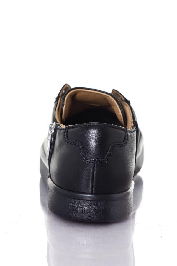 Baskets en cuir Homme Diesel S-NENTISH LOW BLACK T8013