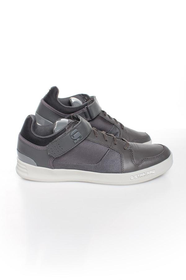 Herren Ledersneakers Gstar Footwear YARD BULLION LO DK GREY LEATHER & TEXTILE