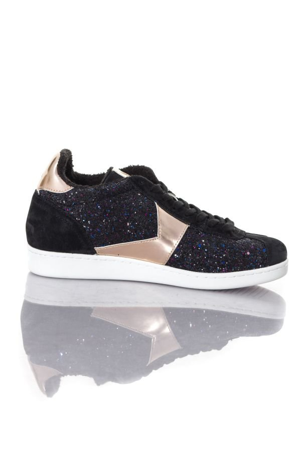 Baskets en cuir Femme Kaporal Shoes KATALA NOIR