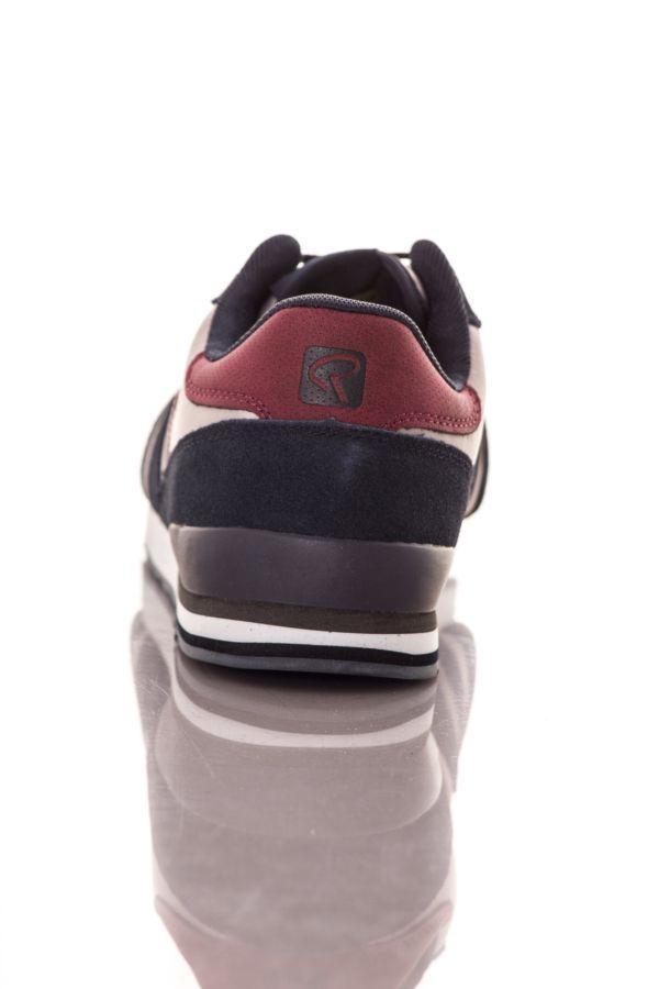 Baskets en toile Homme Chaussures Redskins WORMAN MARINE GRIS ROUGE