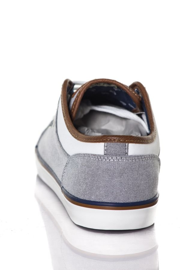Baskets en toile Homme Chaussures Redskins GALETI GRIS BLANC