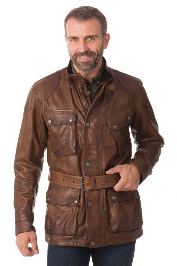 veste homme belstaff panther 4 pocket belted jacket man. Black Bedroom Furniture Sets. Home Design Ideas