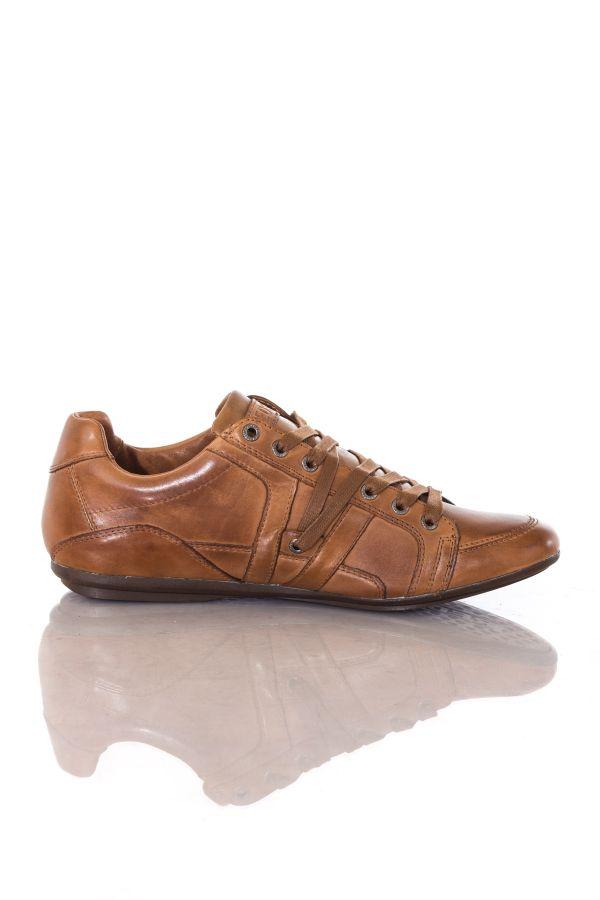 Baskets en cuir Homme Chaussures Redskins ARENE COGNAC