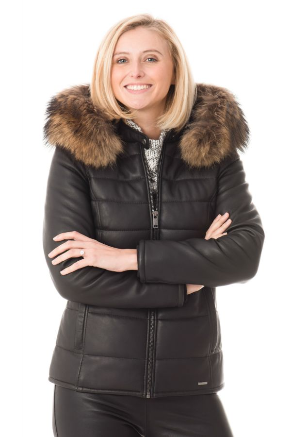 fashion styles closer at low cost Blouson Femme Cityzen CHAMONIX NOIR COL NATUREL