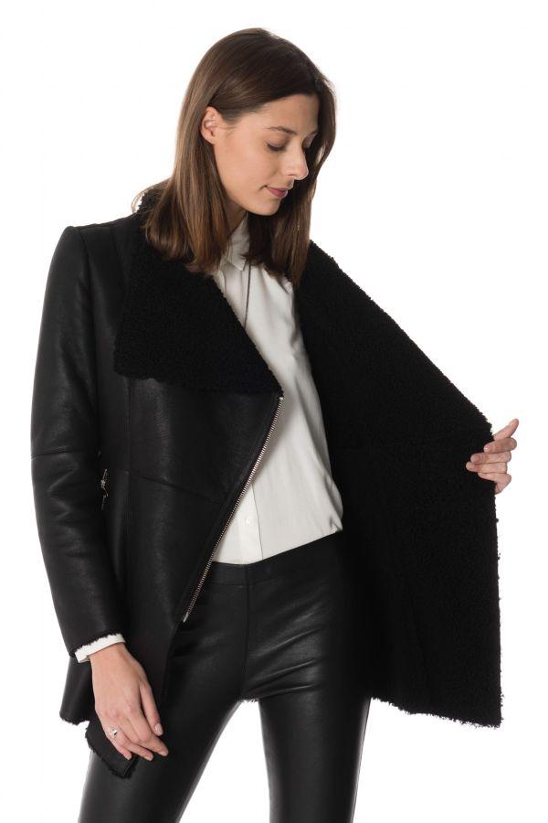 Femme CHELSEA BLACK Cityzen Veste Cuir XOB0dqOxw