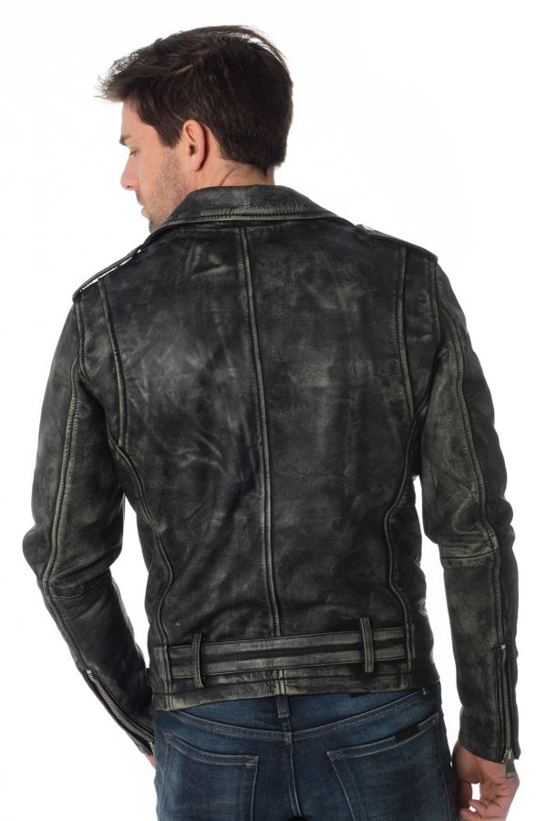 Blouson Homme Cityzen NASHVILLE  COW RUB OFF BLACK