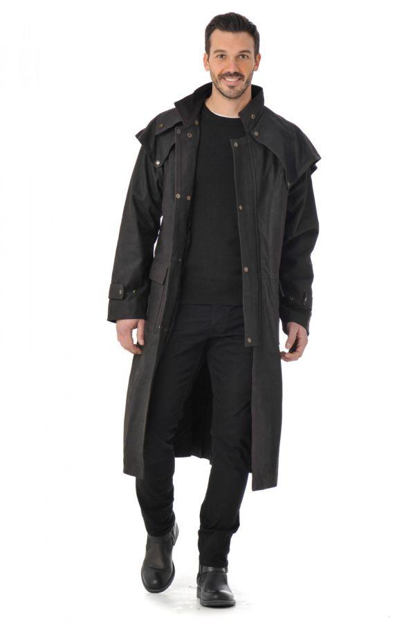 grand manteau cuir homme