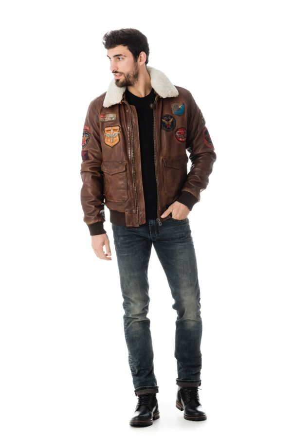 Blouson Homme Daytona MYTHIC FUR SHEEP PETROL BISON