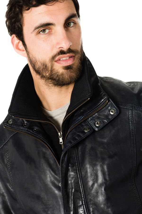 Blouson Homme Daytona GLOSTER IC SHEEP TIGER MIDNIGHT BLUE