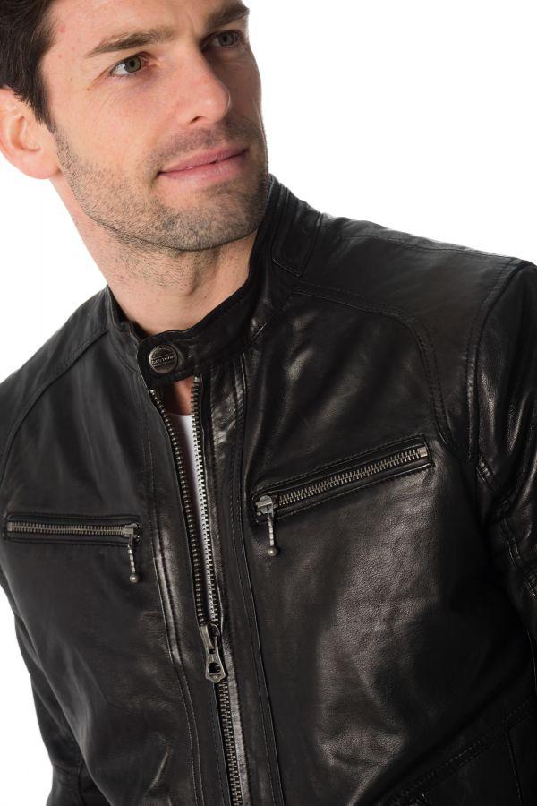 Blouson Homme Daytona EMERSON LAMB CASTEL BLACK
