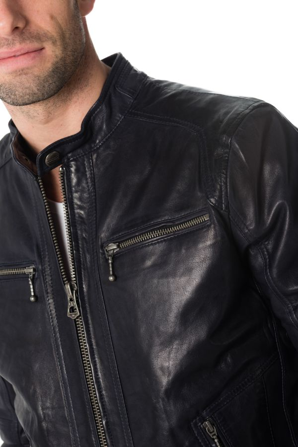 Blouson Homme Daytona EMERSON LAMB CASTEL MIDNIGHT BLUE