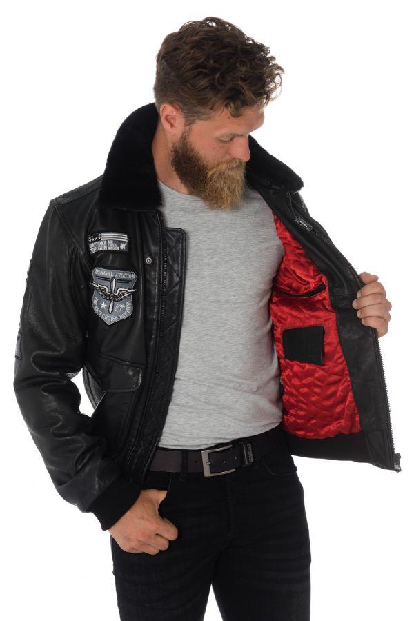 Blouson Homme Daytona MYTHIC FUR VENICE BLACK