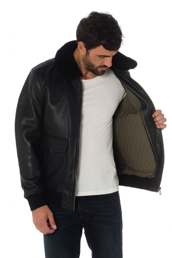 Blouson Homme Daytona MIRAGE DA FUR COW BLACK